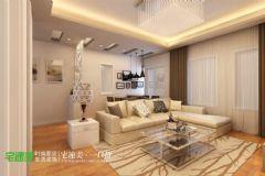东方红郡时尚简约88平两居室现代客厅装修图片