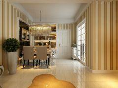 信德半岛93平简欧风小三室效果图欧式过道装修图片
