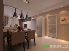东方红郡118平三室两厅现代风格装修效果图现代风格三居室