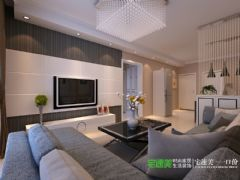 东方红郡118平三室两厅现代风格装修效果图现代客厅装修图片