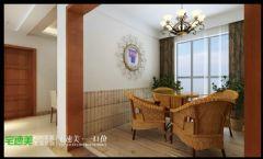 华强广场131现代风格三居室效果图现代阳台装修图片