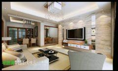 华强广场131现代风格三居室效果图现代客厅装修图片
