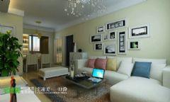 信达荷塘月色95平简约风格效果图简约客厅装修图片