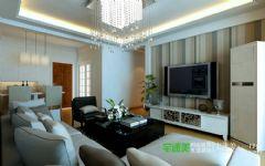 柏庄观邸90平三室一厅现代风格装修效果图现代风格三居室