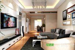 伟星公园大道壹号119平三室一厅现代风格装修效果图现代客厅装修图片