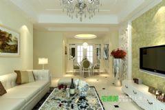 伟星公园大道壹号129平3室1厅欧式风格装修效果图欧式风格三居室