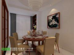柏庄观邸新中式113平品味三居中式餐厅装修图片