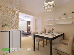 云鼎国际现代简约82平两居室学区房现代餐厅装修图片