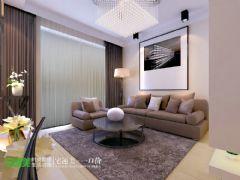 云鼎国际现代简约82平两居室学区房现代客厅装修图片
