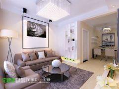 云鼎国际现代简约82平两居室学区房现代风格小户型