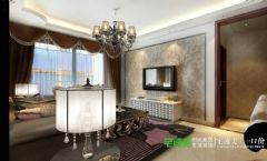 兆通大观花园3室2厅128平欧式风格装修效果图欧式客厅装修图片