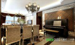 兆通大观花园3室2厅128平欧式风格装修效果图欧式风格三居室