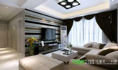 伟业臻园2室1厅92平现代风格装修效果图现代客厅装修图片