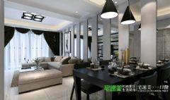 伟业臻园2室1厅92平现代风格装修效果图现代风格小户型