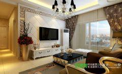 长江湾1号3室2厅118平欧式风格装修效果图欧式客厅装修图片