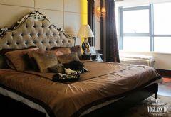 现代简约风格别墅装修武汉尚层装饰现代卧室装修图片