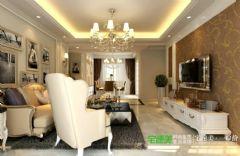 绿地镜湖世纪城4室2厅2卫128平欧式风格装修效果图欧式风格四居室