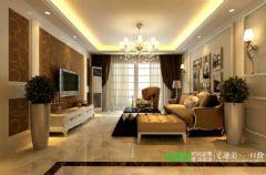 绿地镜湖世纪城4室2厅2卫128平欧式风格装修效果图欧式客厅装修图片