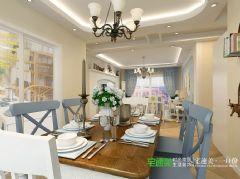 绿地镜湖世纪城4室2厅2卫128平田园风格装修效果图田园餐厅装修图片