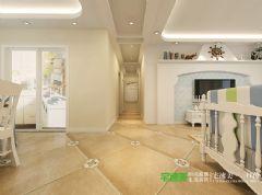 绿地镜湖世纪城4室2厅2卫128平田园风格装修效果图田园客厅装修图片