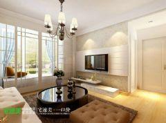 鸠江区玲珑湾89平欧式两居室欧式客厅装修图片
