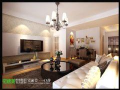 鸠江区玲珑湾89平欧式两居室欧式风格小户型