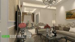 弋江区柏庄丽城95平欧式风格小三室欧式风格三居室
