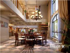 成都尚层装饰别墅装修浦江大溪谷简美风格案例欣赏美式客厅装修图片