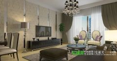 东方红郡两室两厅89平简约风格装修效果图简约风格小户型