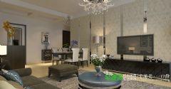东方红郡两室两厅89平简约风格装修效果图简约客厅装修图片
