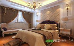 城市之光三室两厅115平简欧风格卧室装修效果图欧式风格三居室