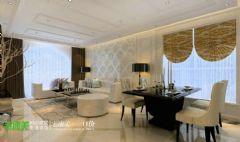 鸿瑞熙龙湾157平欧式风格四居室欧式风格大户型