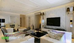 鸿瑞熙龙湾157平欧式风格四居室欧式客厅装修图片