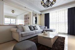 三室两厅简欧风格欧式客厅装修图片