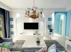 金色水岸浪漫地中海115平三居室地中海风格三居室