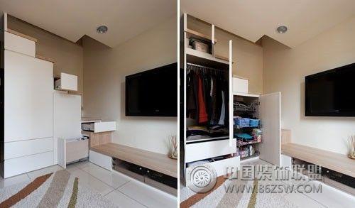 复式跃层楼梯房-客厅装修效果图-八六(中国)装饰联盟图片