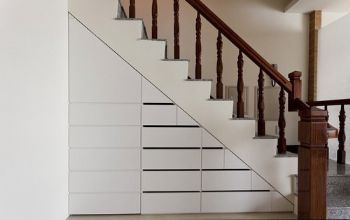 复式跃层楼梯房现代过道装修图片