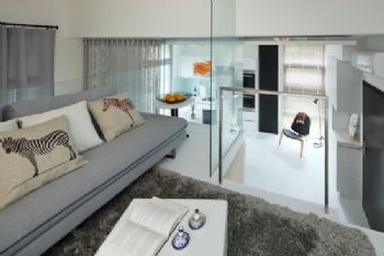 简约风打造Loft型时尚公寓简约客厅装修图片