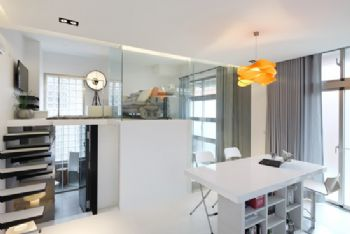 简约风打造Loft型时尚公寓简约餐厅装修图片
