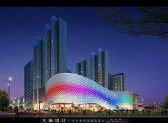 城市综合体效果图丨城市综合体效果图外立面设计的四性要求商场装修图片