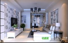 鼎邦家和园两室两厅86平简约风格装修效果图简约客厅装修图片