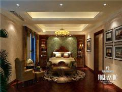 成都尚层装饰别墅装修保利蝴蝶谷美式风格美式卧室装修图片