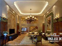 成都尚层装饰别墅装修保利蝴蝶谷美式风格美式客厅装修图片