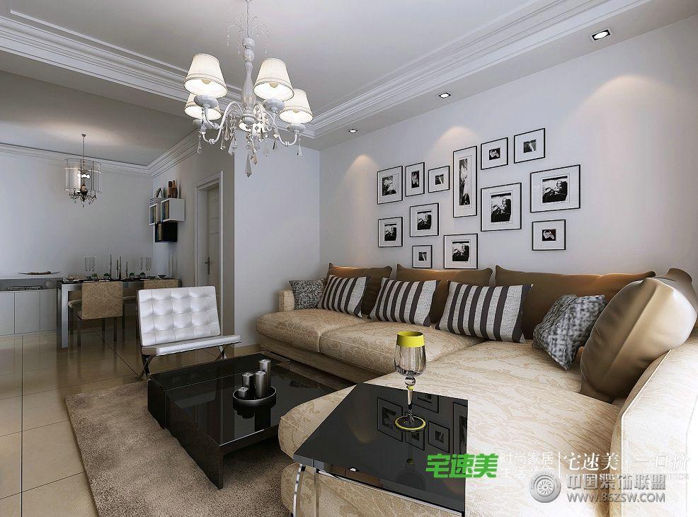 城78平两室一厅简约风格装修效果图简约客厅装修图片