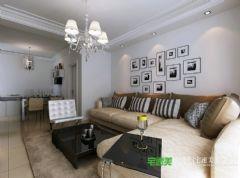 张家山领秀城78平两室一厅简约风格装修效果图简约风格小户型