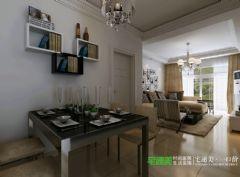 张家山领秀城78平两室一厅简约风格装修效果图简约客厅装修图片