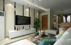 三山时代广场两室两厅97平现代简约风格装修效果图简约客厅装修图片