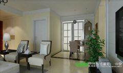 伟星金域华府三室两厅103平简欧风格装修效果图简约客厅装修图片