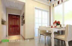 金域国际两室两厅86平简约风格现代餐厅装修图片