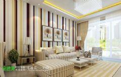 金域国际两室两厅86平简约风格现代客厅装修图片